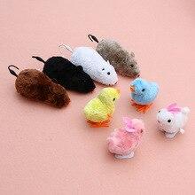 Забавный игрушечный часовой механизм, ветряная мышь крыса, подвижный хвост, кошка, котенок, игрушка для розыгрыша, домашнее животное, играющее в подарок для детей