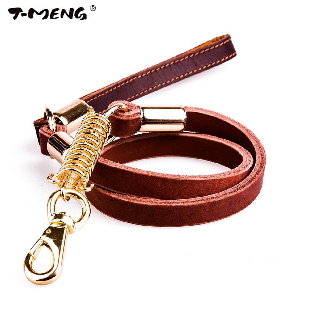 T-MENG natūrali odos šunų liemenė Stiprus vaikščiojimo - Naminių gyvūnėlių produktai - Nuotrauka 1