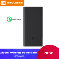 In Stock Xiaomi Wireless Power Bank 10000mAh Qi Quick Charge Wireless Charger For iPhone Mi USB Type C Fast Charging Powerbank