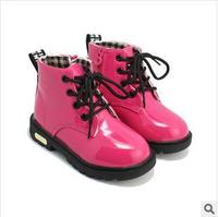 Free Shipping Winter Boots Pink Children Shoes Boots Leather Waterproof Girls Sports Boots Kids Sport Flat