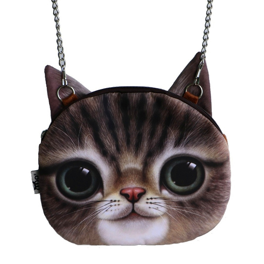 f12cde6ce9d7e Small Size woman bag New Designed Female Retro Cartoon 3D Animal Printing  Shoulder Bags Cat Shape