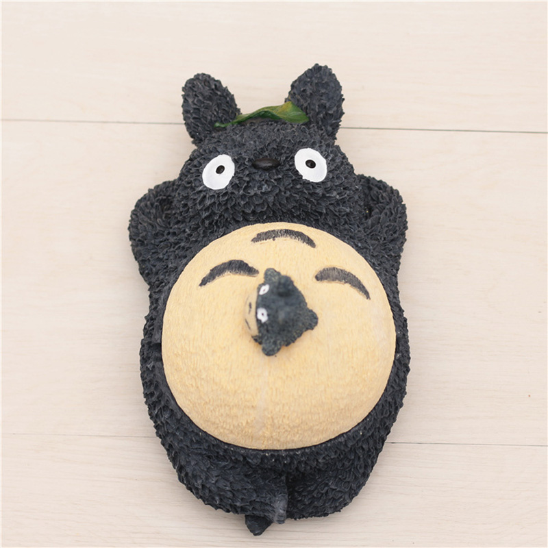 21cm Large Totoro Figure with Cover Creative Cute My Neighbor Totoro Action Figures Doll Home Decoration Ceramic Ashtray loz my neighbor totoro toy umbrella totoro model action figure diamond building blocks original box 14 gift 9509