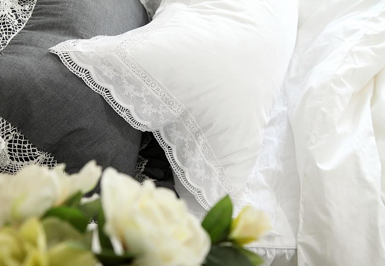 Novo conjunto de cama superior elegante bordado