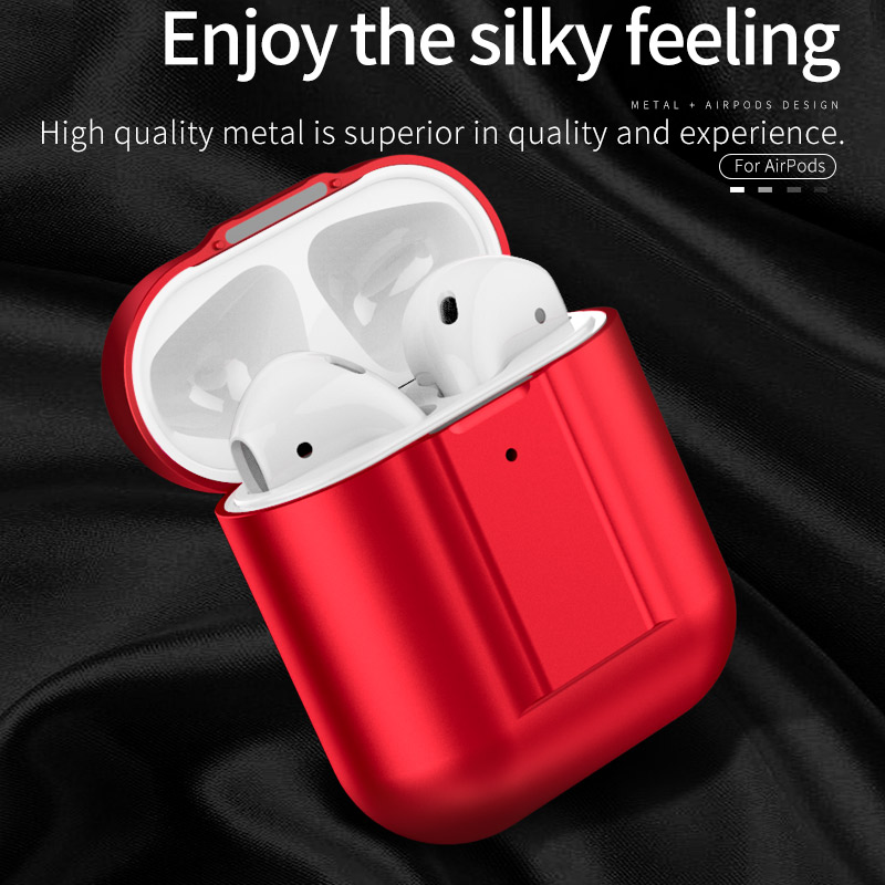 Suitable for AirPods 1 Bluetooth wireless headset metal case for Apple Airpods 2 headset charging box cover cover Wan Wang in Earphone Accessories from Consumer Electronics