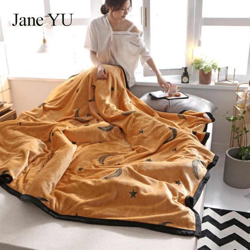 JaneYU Insnet vermelho cobertores outono e inverno cochilo quente escritório sofá coberta com tapete Falleigh grupo de compra por atacado