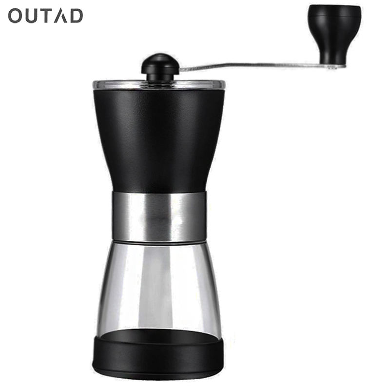 OUTAD Portable Manual Ceramic Coffee Grinder Washable ABS Ceramic core Stainless Steel Home Kitchen Mini Manual Hand CoffeeOUTAD Portable Manual Ceramic Coffee Grinder Washable ABS Ceramic core Stainless Steel Home Kitchen Mini Manual Hand Coffee