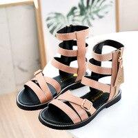 Summer Baby Girls Shoes Toddler Infant Kids Single Princess Roman Shoes Sandals For Children Girl Black