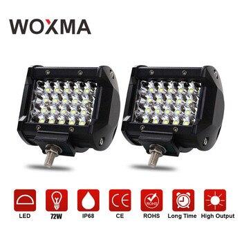 WOXMA Offroad 4x4 В 12 В автомобиль рабочий свет бар 4 дюймов 72 Вт пятно мотоцикл 4WD К 6000 К Белый фар супер ярче для Авто Туман лампа