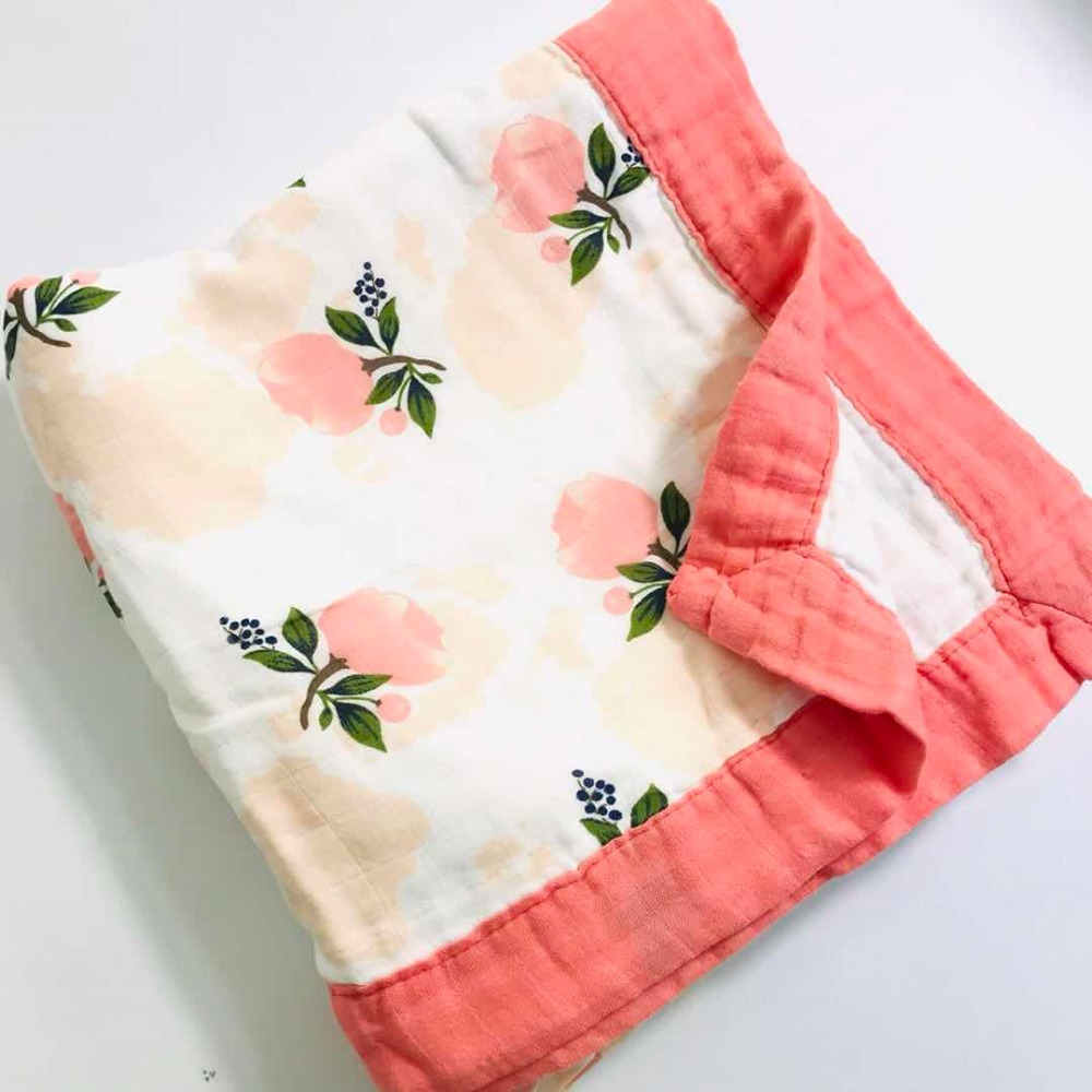 F2 Quilt Four Layer Bamboo Baby Muslin Blanket  Karitree Swaddle Better Than Anais Baby/bamboo Blanket Infant Wrap