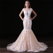 2018 Beautiful Elegance Sweep Train Wedding Dresses
