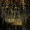 3.5M 96 LED Icicle Christmas Holiday Light 9.4ft LED Snowing curtain light Xmas Wedding Party Decoration