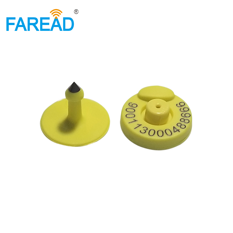X100pcs FDX-B ISO11784/5 RFID Animal Ear Tag With Laser Free ICAR Coding 134.2khz Frequency Tag For Animal Breeding Read/write