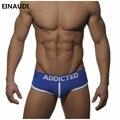 2017new underwear addicted hombres de la marca transpirable escritos atractivos empujan hacia arriba la taza delante de mejora de m/l/xl/xxlunderpants envío gratis