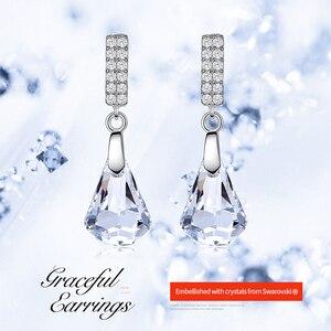 Image 2 - Boucles doreilles en argent Sterling Cdyle 925 ornées de boucles doreilles en cristal bijoux boucles doreilles géométriques