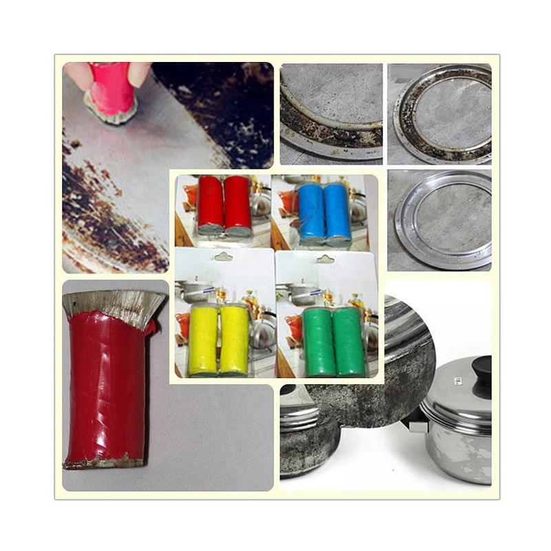 Venda quente escova de limpeza mágica haste de aço inoxidável vara mágica metal ferrugem removedor útil cozinha ferramentas limpas