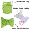 Cost Selling 2pcs Reusable Double Rows snap Baby Cloth Diaper Nappy with Double Leg gusset suede cloth inner wholesale selling