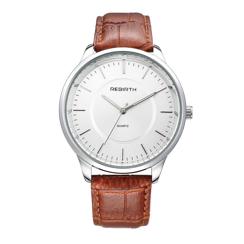Good Quality Fashion Casual Brown Color Leather Band Watch Elegant Analog Quartz Business Wristwatch портмоне mano business 19008 19008 brown