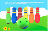 Colorful interesting Bowling Balls toys Children Kids Educational soft Bowling Toy Party cute Fun Family Game teaching shool