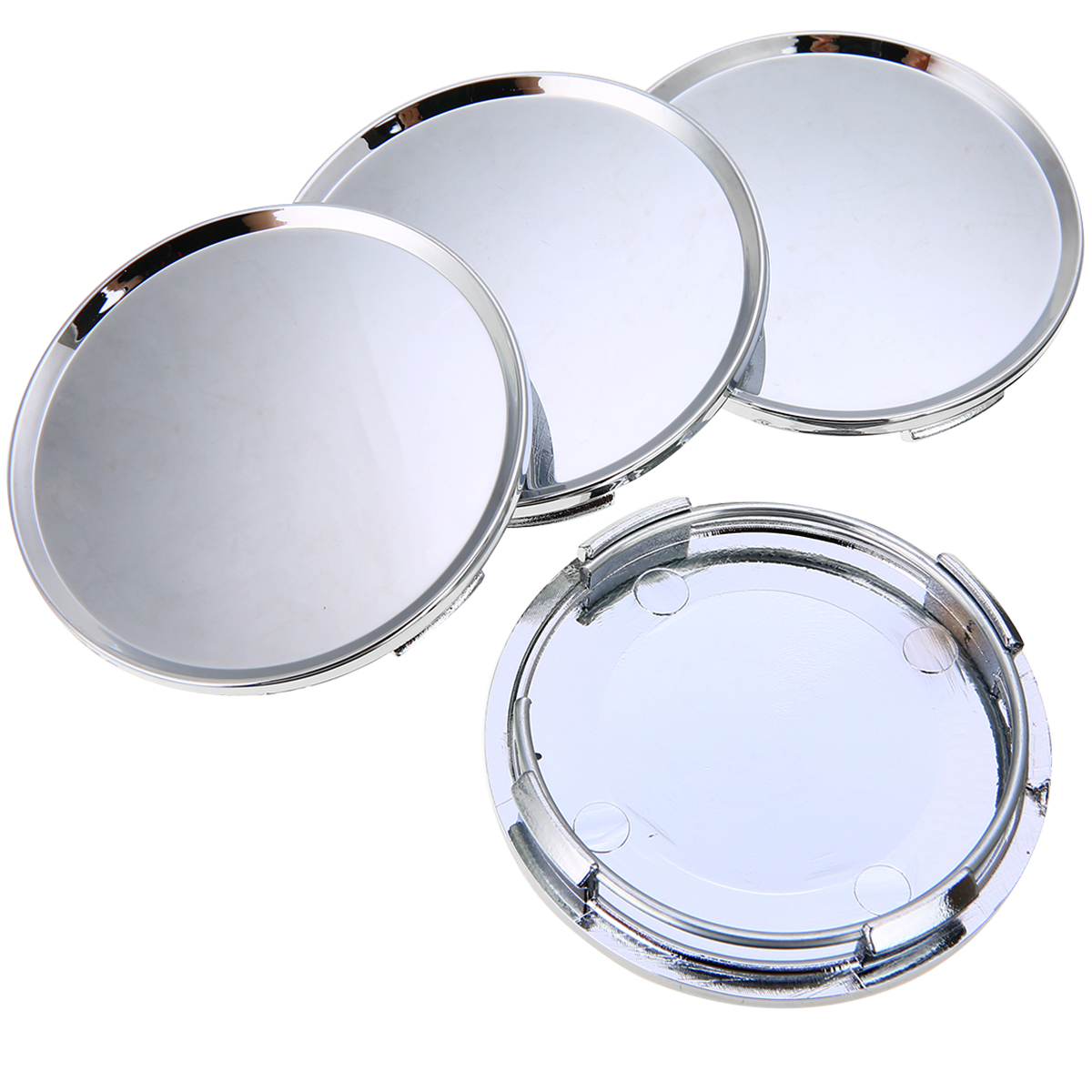 Image 2 - 4pcs/set Universal 63mm Car Vehicle Wheel Center Hub Cap Cover Silver For Most Car Trucks Vehicles-in Wheel Center Caps from Automobiles & Motorcycles