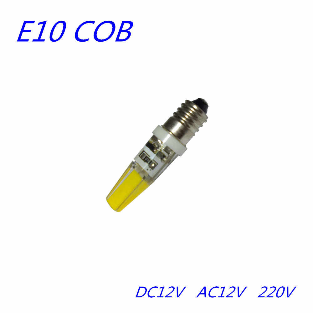LED COB E10 12V Instrument bulb 220V Lighting bulb E10 AC12V  Flashlight bulb Chandelier Crystal bulb