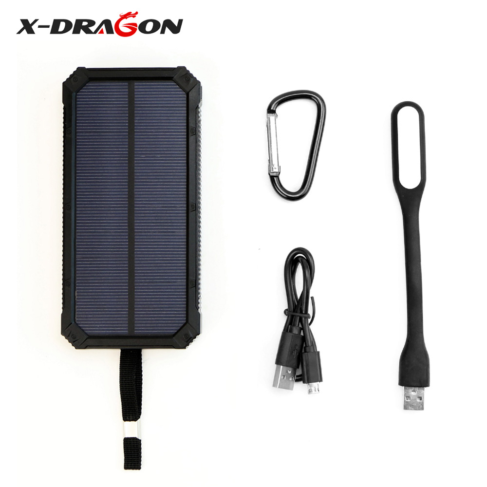15000 mAh Portable Solar Power Bank Phone Charger for iPhone 5 5s 6 6s 7 Samsung