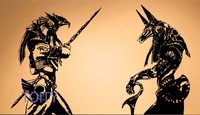 Horus Anubis Wall Room Decor Art Vinyl Sticker Mural Decal Egyptian Gods Poster Egypt H57cm X