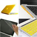 4на1 желтый матовый прорезиненные жесткий чехол ( 11 цветов ) + крышка клавиатуры + разъем для Apple Macbook Pro 13 дюймов A1278 бесплатная доставка