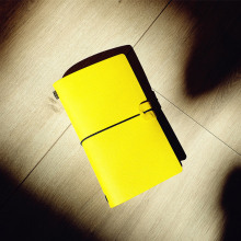 Miss Mango Yellow Color Faux Leather Notebook Weekly Planner Blank Free Note Study Diary Journal