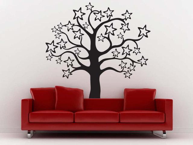 Whole Pattern Sweet Stars Cute Tree Vinyl Wall Sticke Home Nursery Bedroom Lovely Decor Art