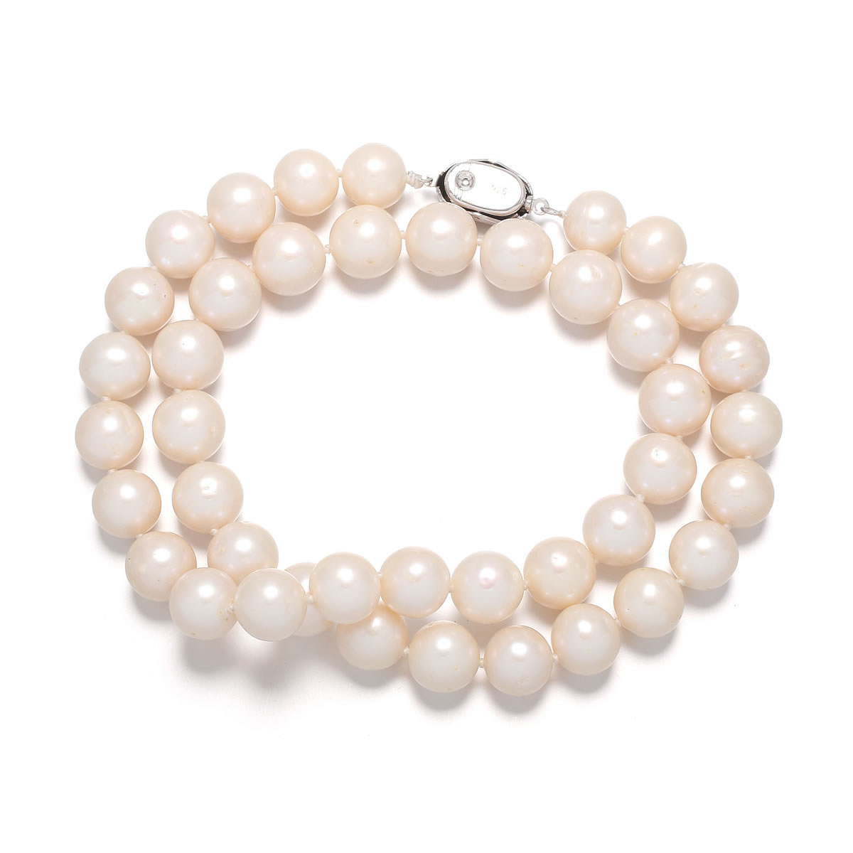 Pearl Necklace 9 10 mm 100 Natural Real Freshwater Pearl Necklaces for Women in Choker Necklaces from Jewelry Accessories