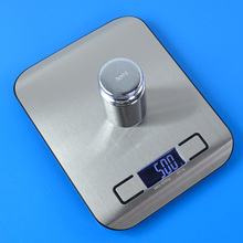 5000g/1g Electronic Digital LCD Display Kitchen Food Scale with Steel Platform