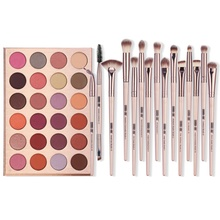MAANGE 24-Color Eyeshadow Palette + 12Pcs Eye Makeup Brushes Makeup