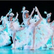Eighth Xiao Bailing стиль маленький детский танцевальный костюм для сцены костюмы павлин