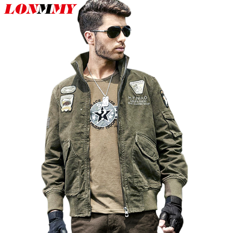Aliexpress.com : Buy LONMMY Military style jackets mens jackets ...