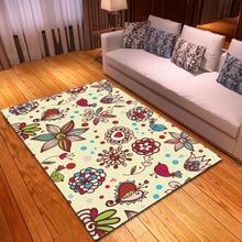 Nodic 3D Flower Print Carpet Rug For Home Living Room Bedroom Kid Room tapete Modern Large Area Rug Anti-Slip Blanket Floor Mat недорого