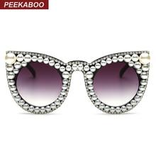 Peekaboo Fashion luxury rhinestone cat eye sunglasses