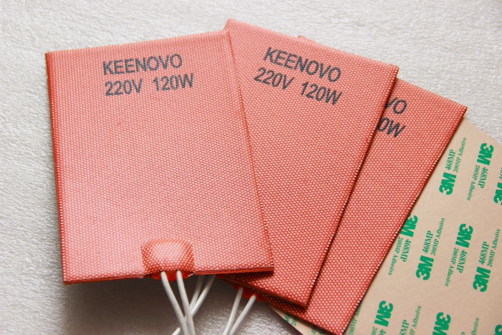 Keenovo универсальный гибкая силиконовая Нагреватель Коврики/PAD/элемент Машинное масло Пан нагреватель, Чейфер обогрев, 150 * 100mm120w @ 220 В, бесплат...