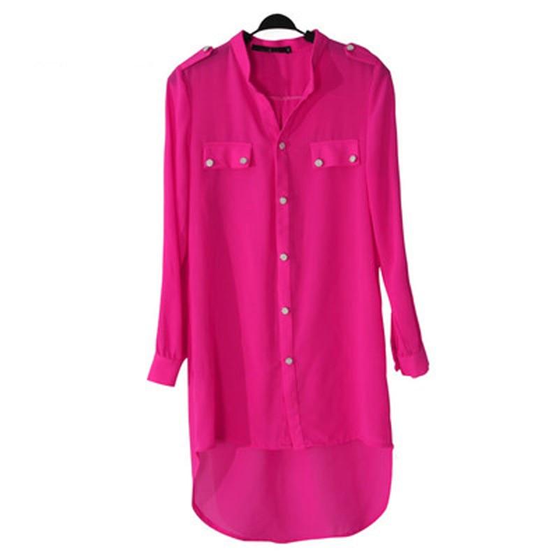 ქალები Bluz feminas პერანგები Camisas Kimono cardigans Plus size 3XL Tunic Fishtail Chiffon მუსულმანური გრძელი პერანგი ქალბატონი Blues Patten