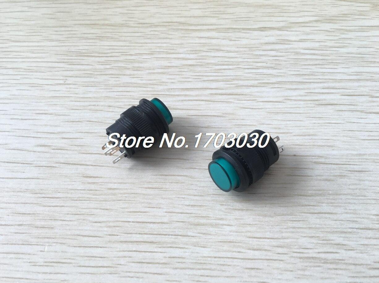 2 Pcs X Ac 250v 3a 16mm Thread No Momentary Pushbutton