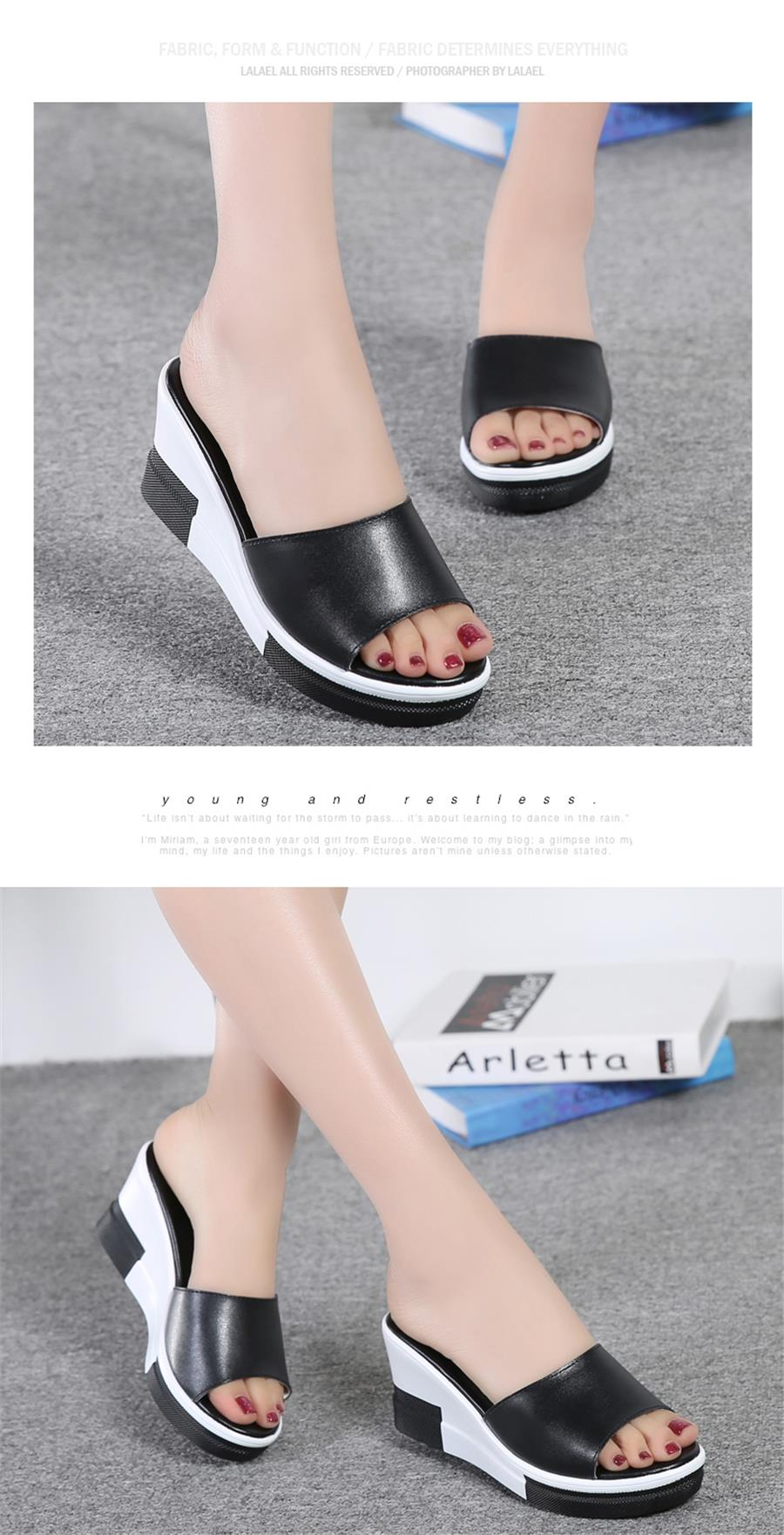 2123ce43876ee STQ 2018 women flip flops platform sandals shoes ladies high Heel ...