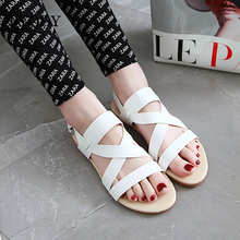 BYQDY Brand 2019 Plus Size 34-48 Summer Sandals Flats Women Shoes Casual Office Career Woman Comfortable Russian Dropship