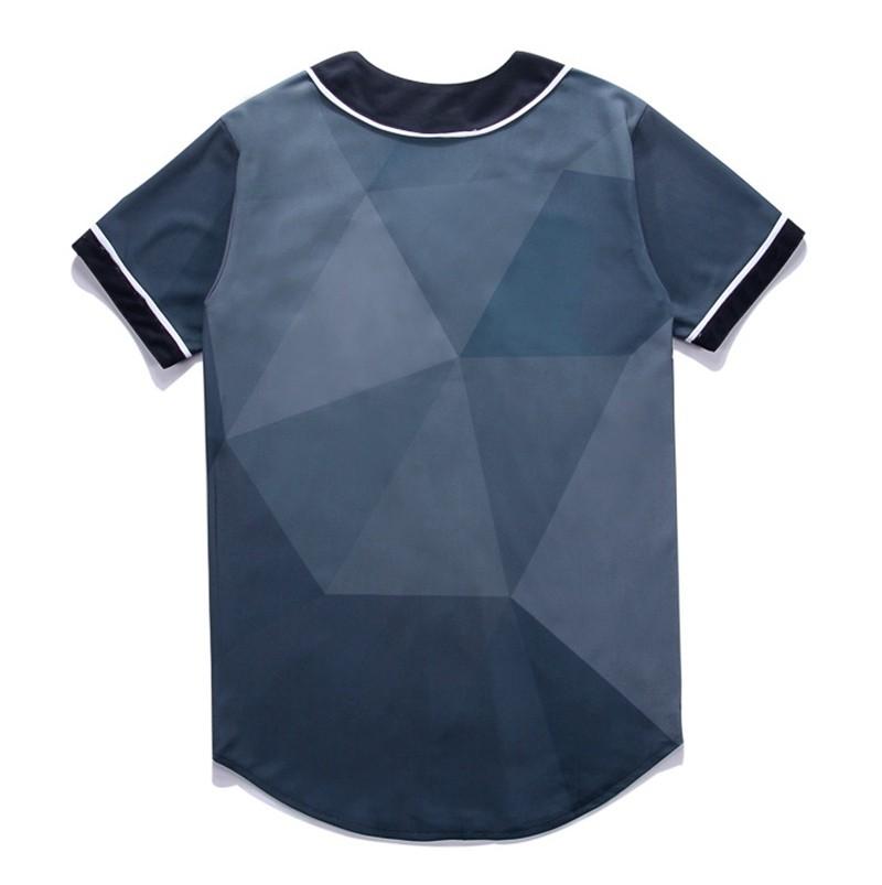 Newest Men`s Shirts Retro Mens Hipster Hip Hop Button-Down Baseball Jersey Casual V-neck Short Sleeve Fancy Shirts Men M-XXXL (2)