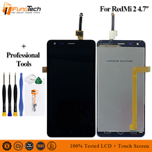 купить 100% Tested One by One New AAA LCD display For Xiaomi Redmi 2 4.7 inch touch screen digitizer 1280*720 assembly  Free Shipping по цене 909.23 рублей
