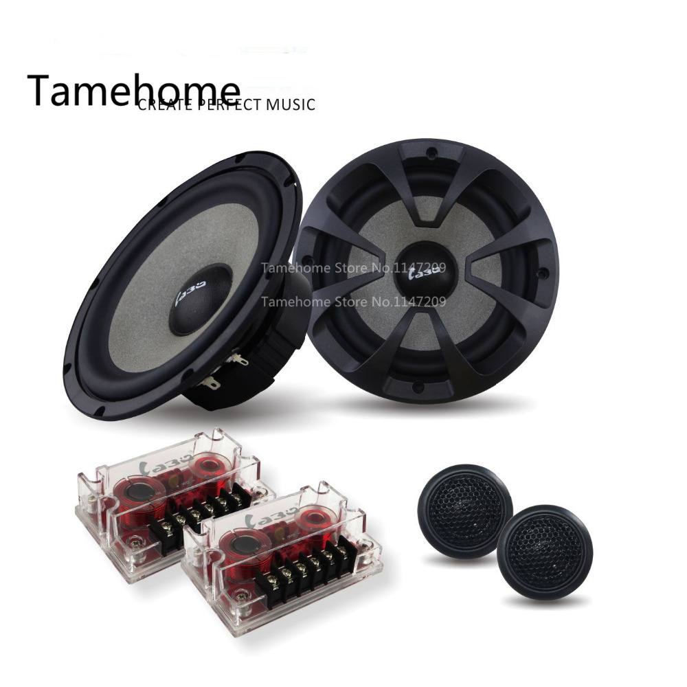 Aliexpress com buy 2015 new high quality 6 5 inch component car speaker set car woofer 6 5 inches speakers stereo music audio sound system from reliable