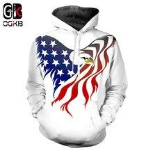 927ff0b04 OGKB bandera americana Hoodies blanco hombres/mujeres 2018 nueva sudadera ee .uu. bandera Hip Hop Otoño Invierno Casual hoodie má.