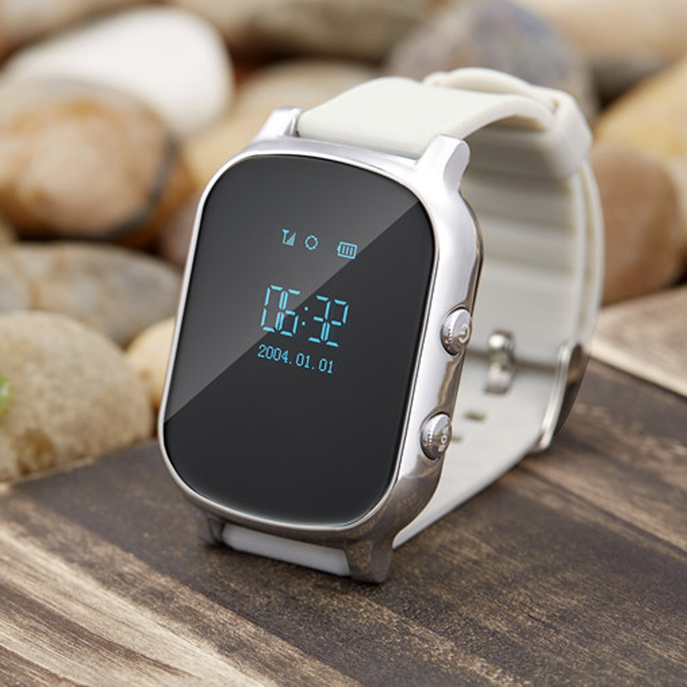Best SALE Smart watch T58 GPS Tracker for kids/child GPS tracker smart bracelet sos button google map free apps gsm gps locator