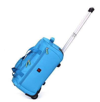 ФОТО Brand Oxford Travel Luggage Trolley Bag Waterproof Travel Trolley luggage suitcase Travel  bags on wheel wheeled Rolling Bags