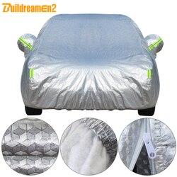 Buildremen2 толстый чехол для автомобиля, 3 слоя, алюминиевая фольга + полиэфирная тафта + хлопок, водонепроницаемый, защита от солнца, дождя, града...