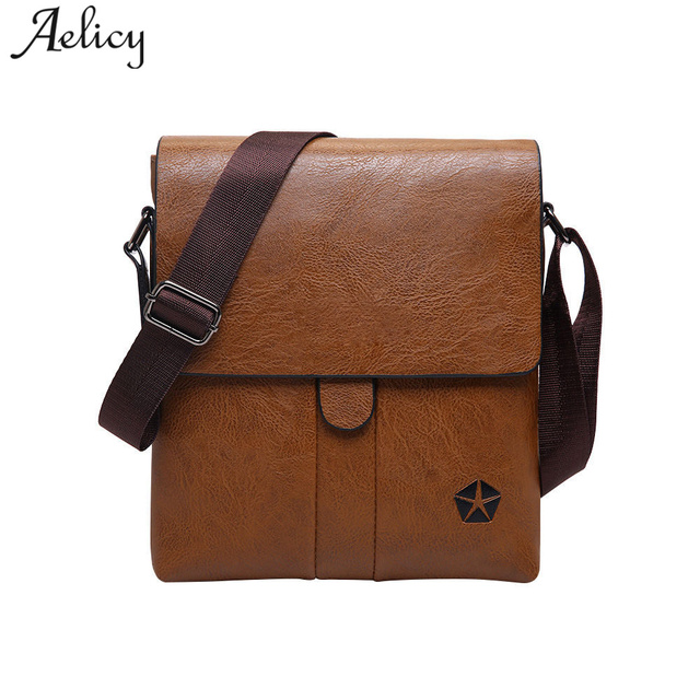 Aelicy PU Leather Men Shoulder Bag Solid Men s Bags Laptop Bags Tote  Briefcases Zipper Soft Fashion 699fb83d0dbee