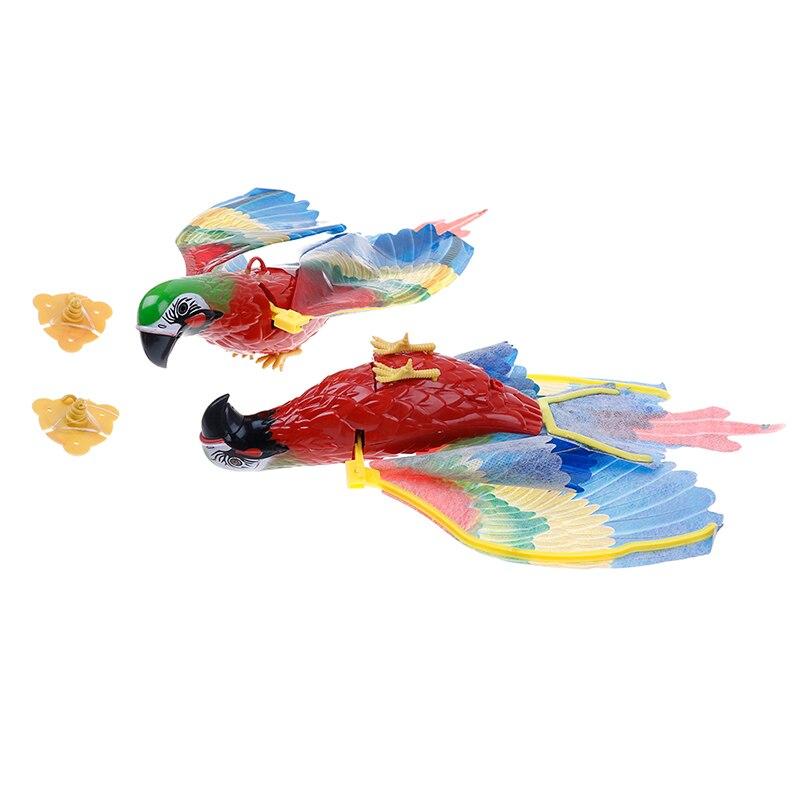 Animales Juguete Eléctrico Niños Plástico Lovebird Colorido Regalo Con Habla Pájaro Batería Juguetes Que Para Sonido Ala Mosca Loro De jL54Rq3A